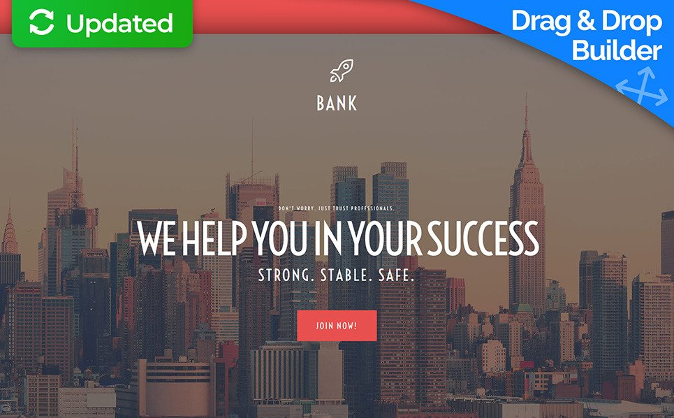 Responsive Moto CMS 3 Template over Bank New Screenshots BIG