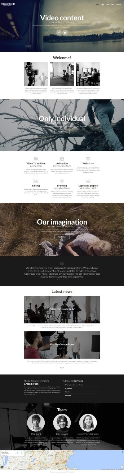 Video Lab Responsive Moto CMS 3 Template