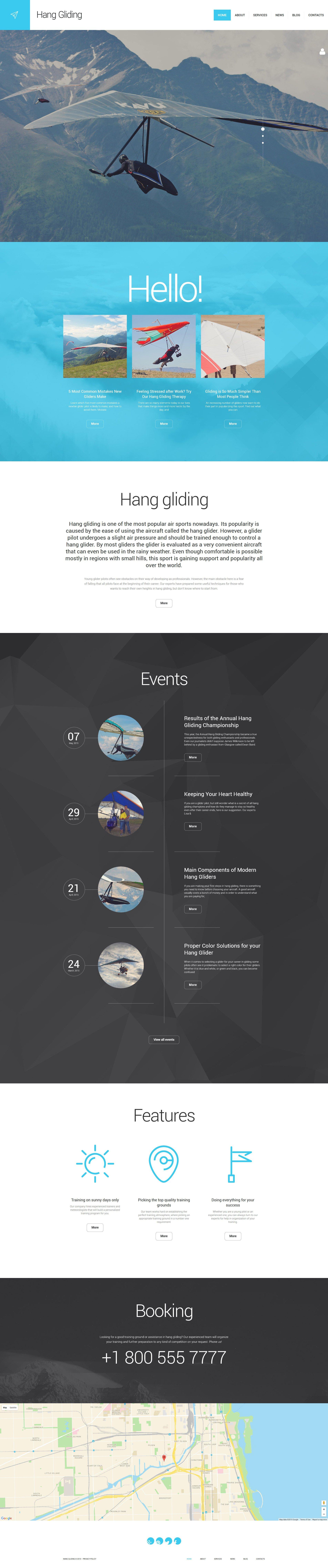 Responsivt Hang Gliding WordPress-tema #55966 - skärmbild