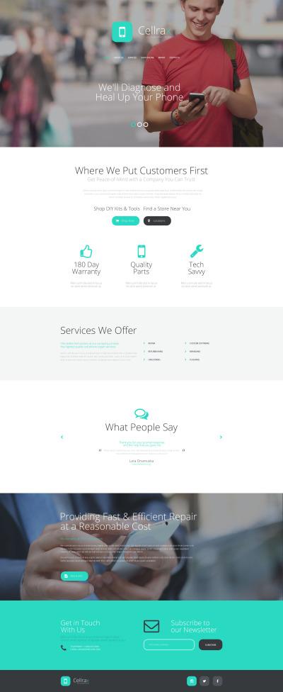 Mobile Repair Service Responsive Šablona Webových Stránek