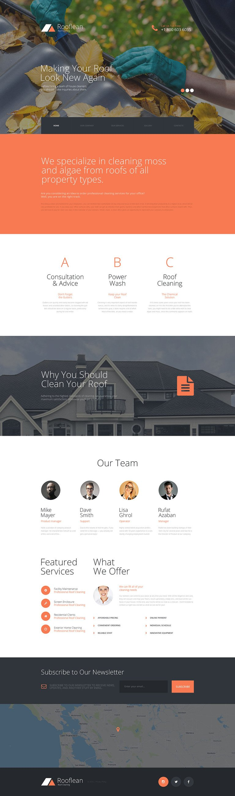 Rooflean Website Template New Screenshots BIG
