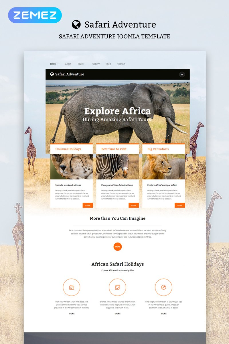 Safari Adventure Joomla sablon 55957