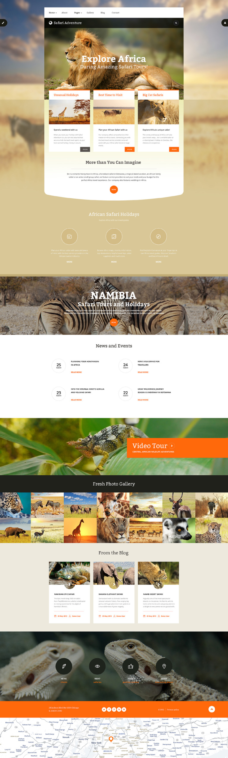 Safari Adventure Joomla Template New Screenshots BIG