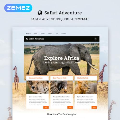 Safari Adventure - HTML5 Joomla! Template