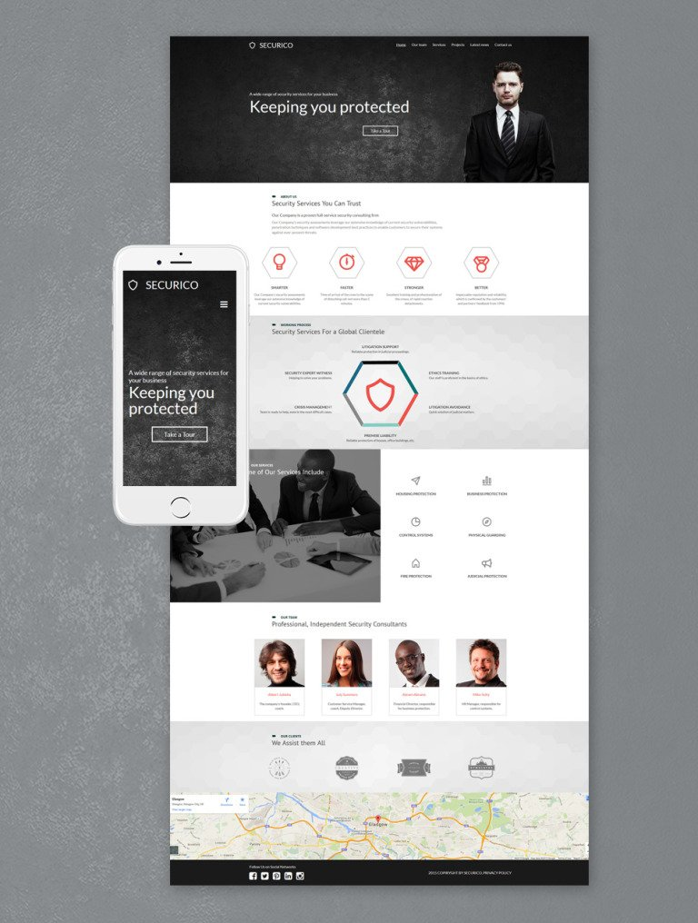 Security Responsive Moto CMS 3 Template New Screenshots BIG