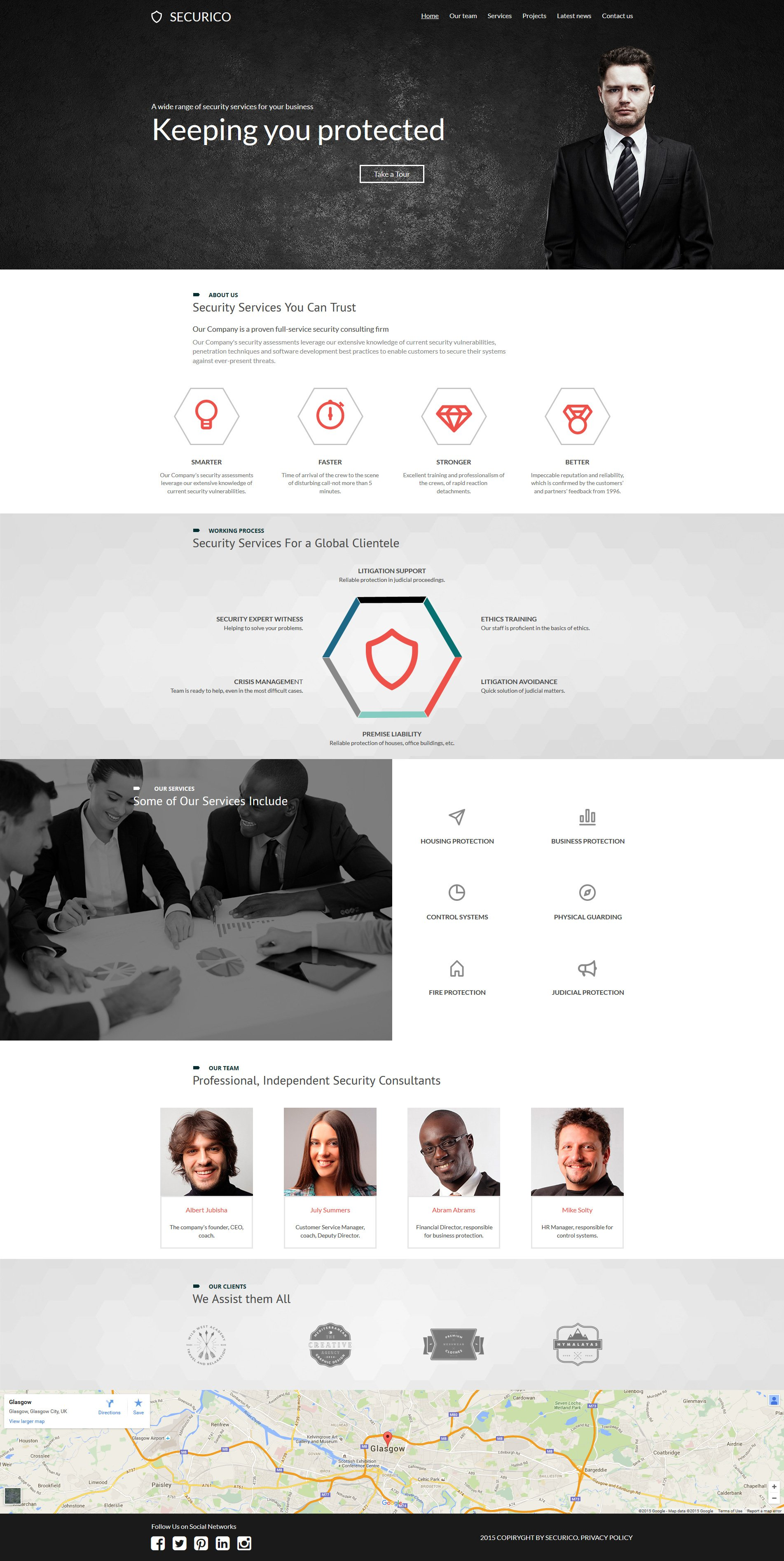 Security Responsive Moto CMS 3 Template