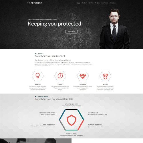 Securico - Security Systems Template based on Bootstrap