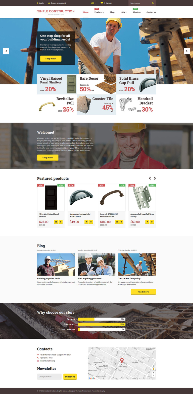 Simple Construction Shopify Theme New Screenshots BIG