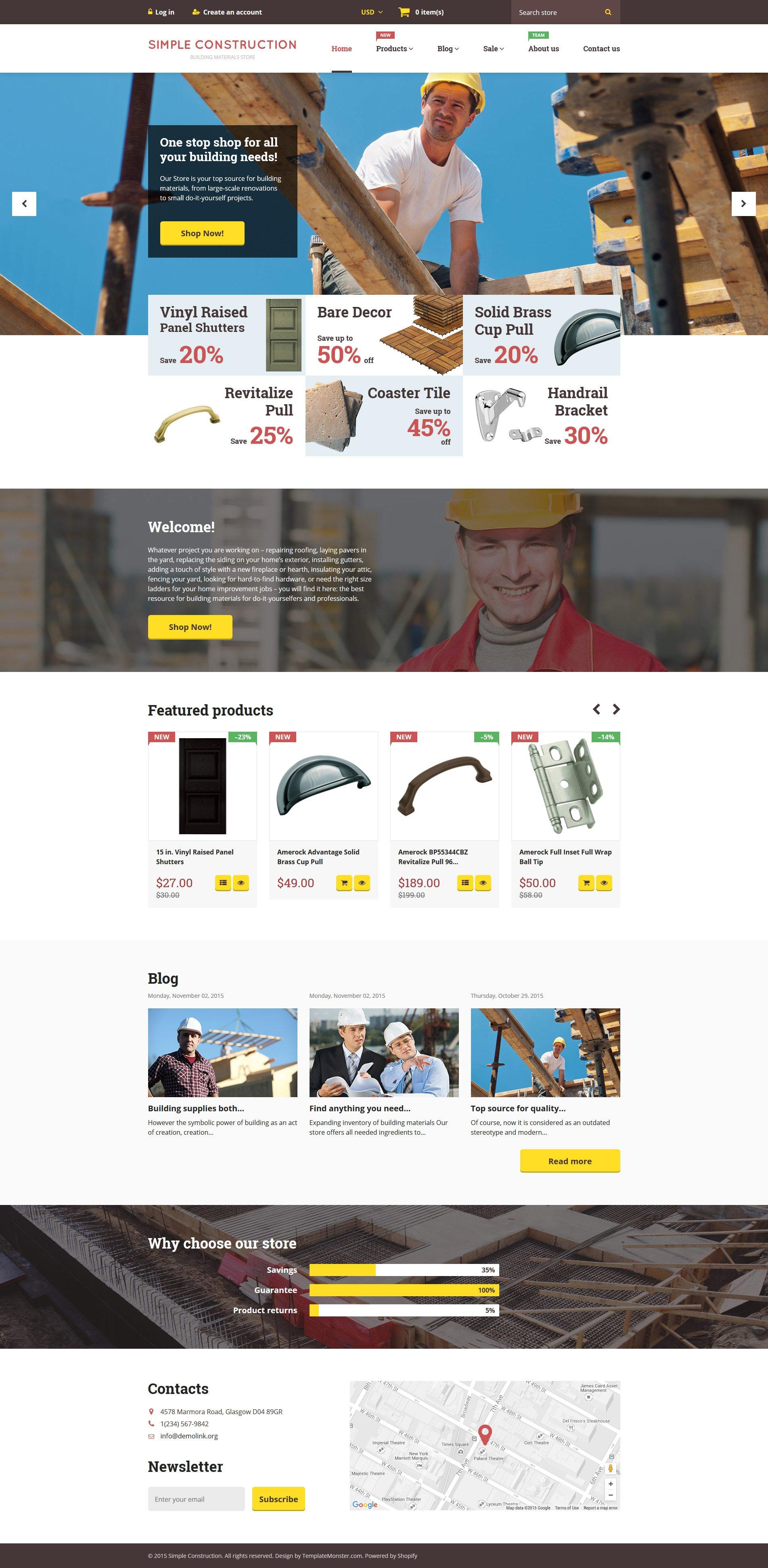 Simple Construction Shopify Theme