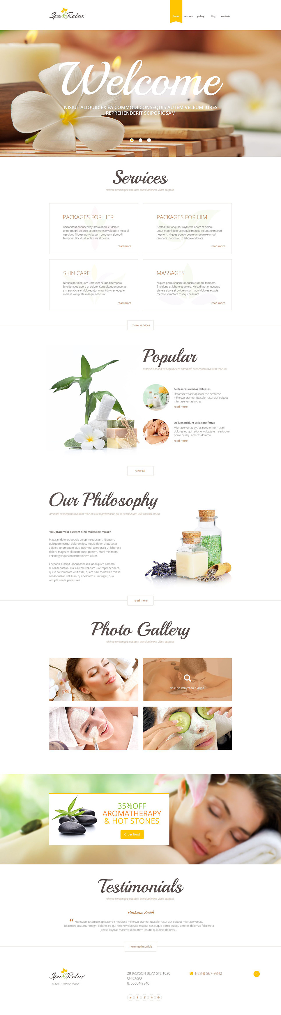 SPA Relax PSD Template New Screenshots BIG