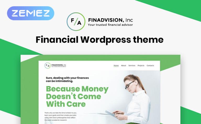 Tema de WordPress #55970 para Sitio de Asesores financieros
