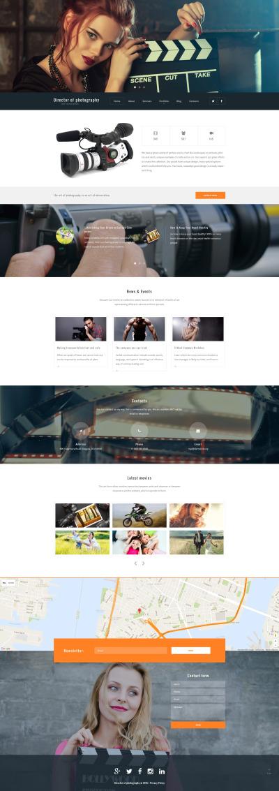Responsive Tema De WordPress #55962 para Sitio de  para Sitio de Fotografía