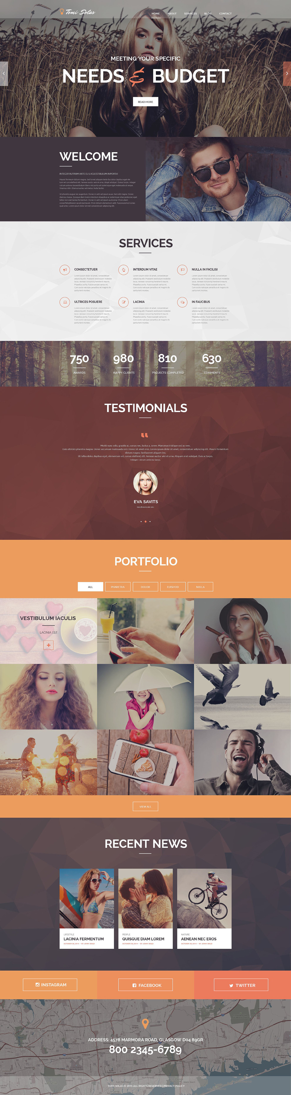 Tomi Solas PSD Template New Screenshots BIG