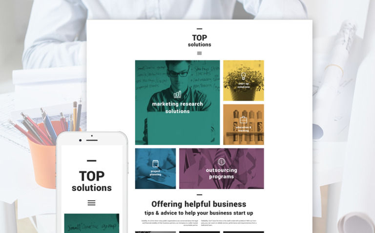 Top Solutions WordPress Theme New Screenshots BIG