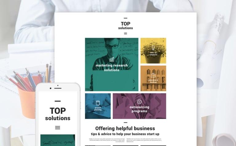 Business blog wordpress theme top solutions wordpress theme new screenshots big accmission Gallery