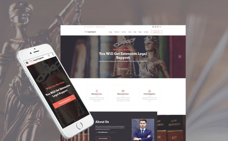 Traffic Ticket Attorney Website Template New Screenshots BIG