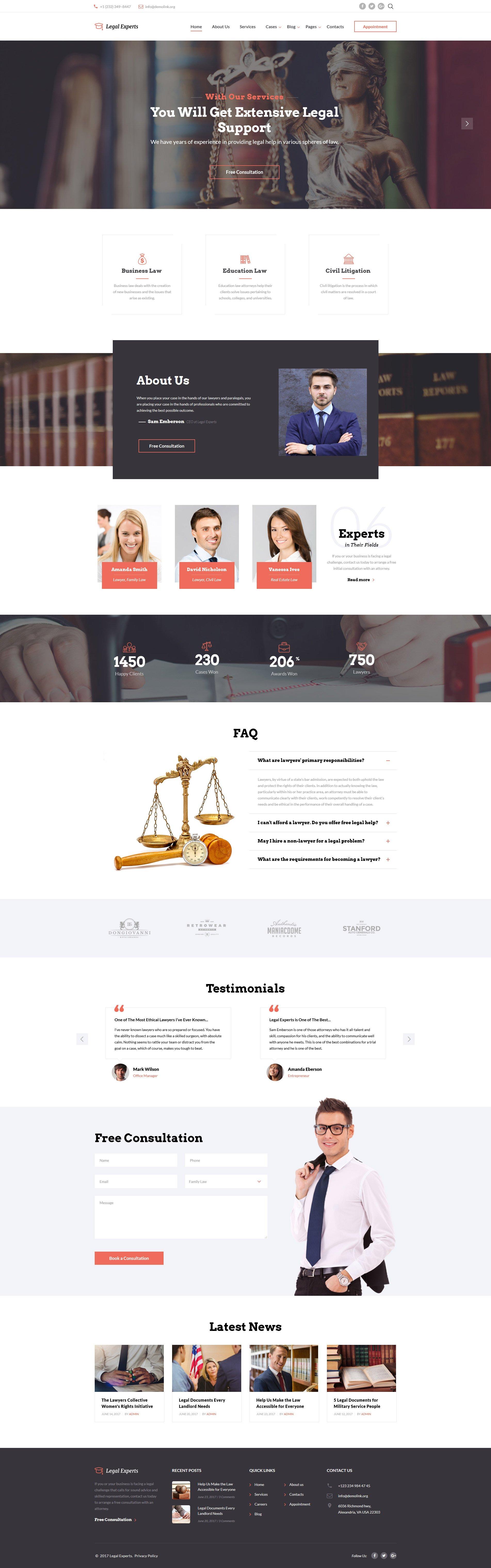 Traffic Ticket Attorney Website Template - screenshot