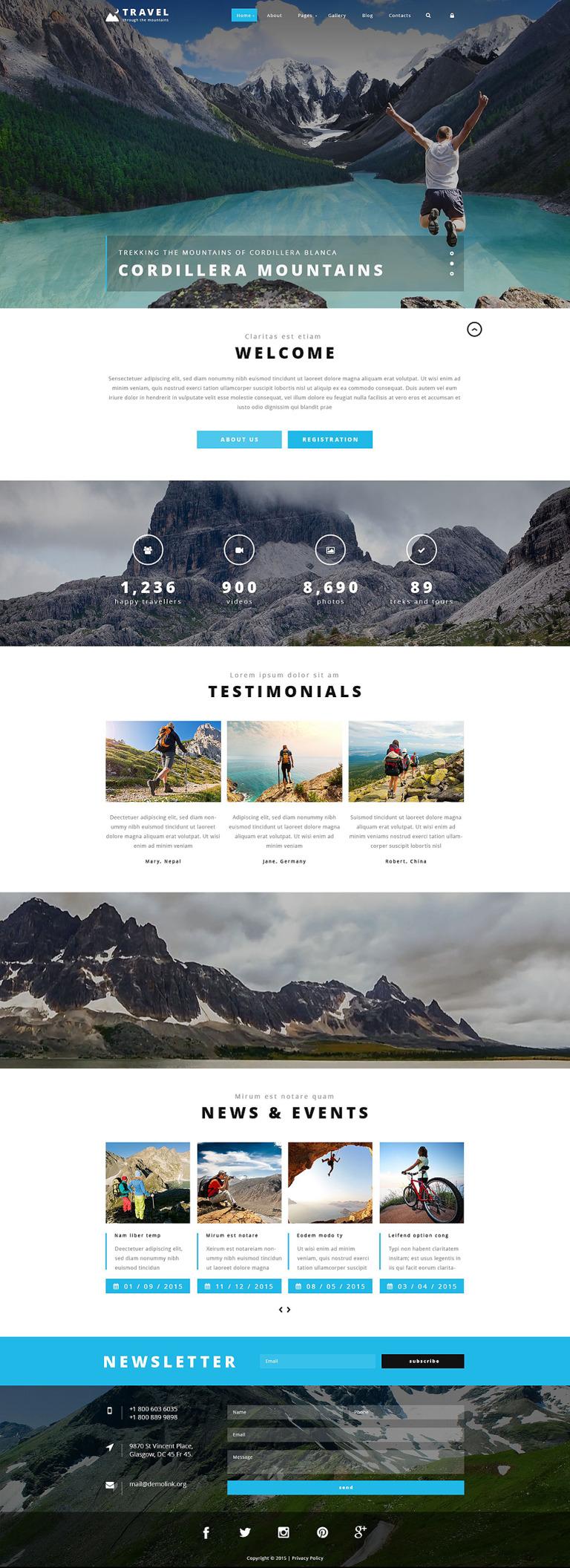 Travel PSD Template New Screenshots BIG