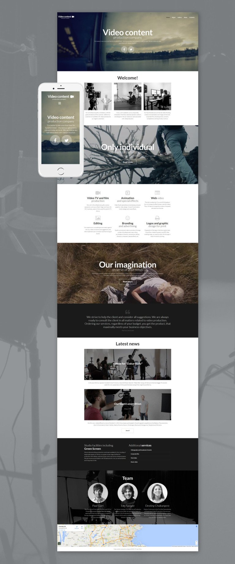 Video Lab Responsive Moto CMS 3 Template New Screenshots BIG
