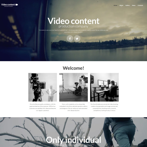 Video Content - MotoCMS 3 Template based on Bootstrap