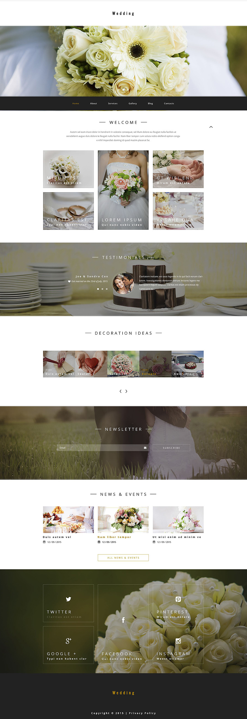 Wedding PSD Template New Screenshots BIG