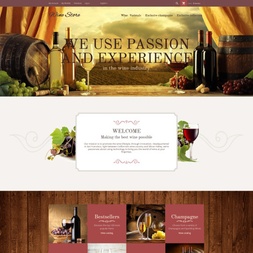 Wine Store - Magento Template based on Bootstrap