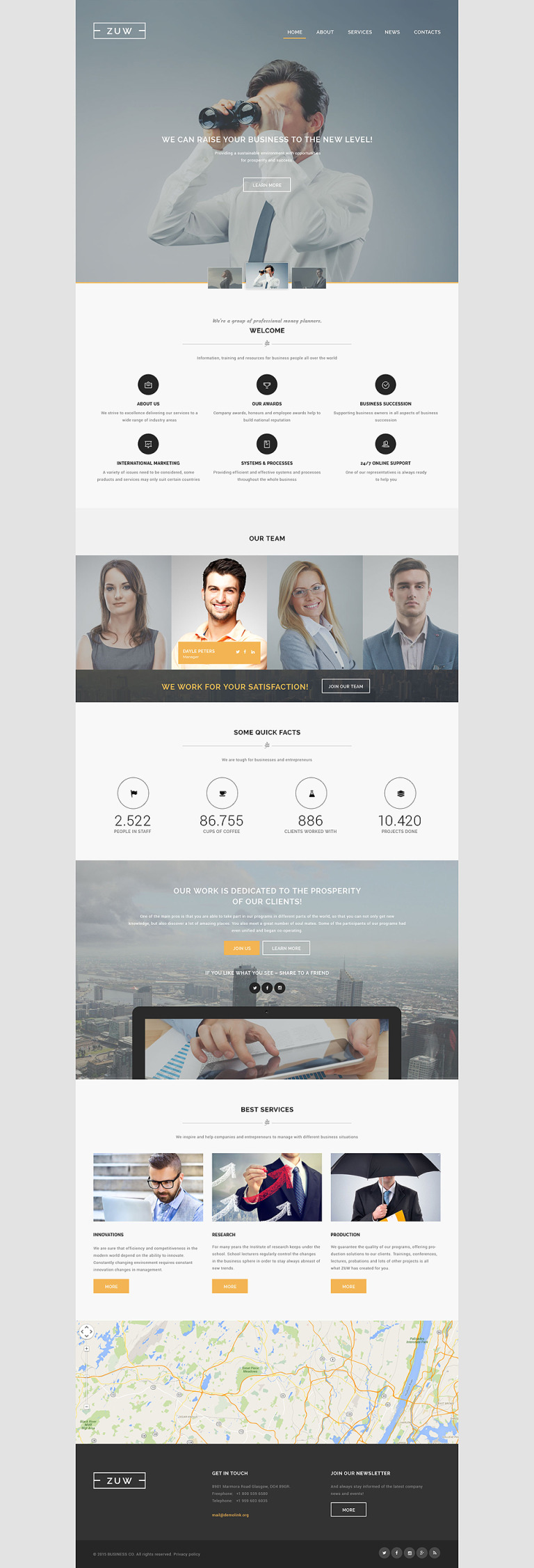ZUW Website Template New Screenshots BIG