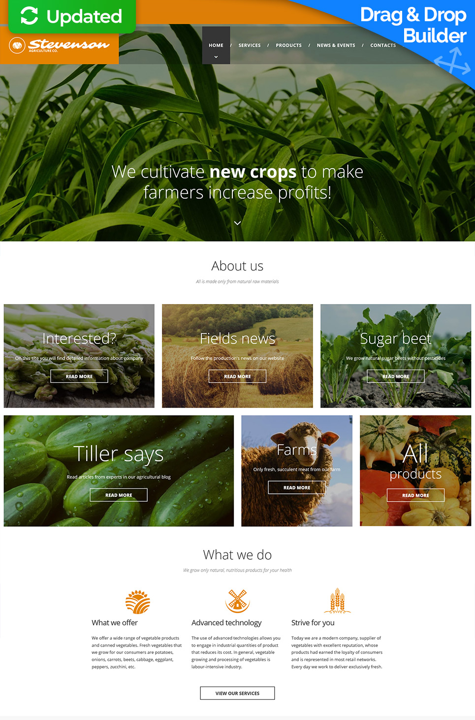 Agriculture site theme for farmers