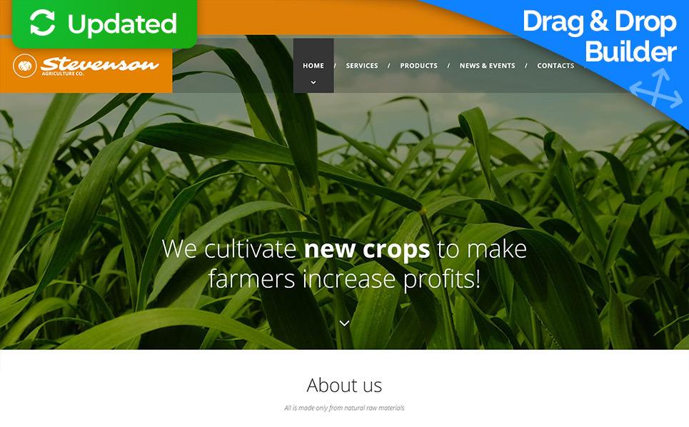 Responsive Moto CMS 3 Template over Landbouw  New Screenshots BIG