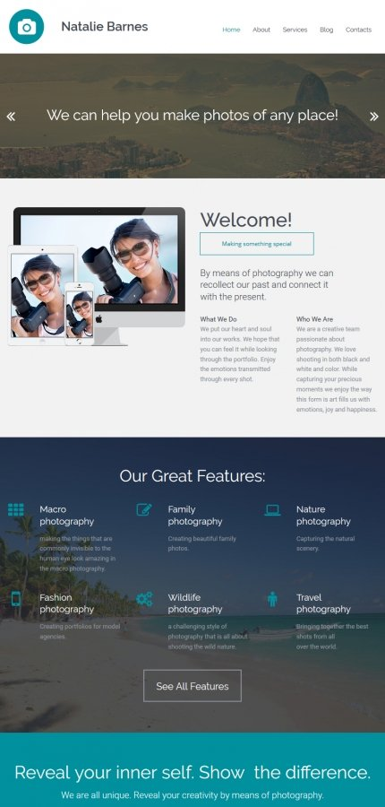 ADOBE Photoshop Template 56005 Home Page Screenshot