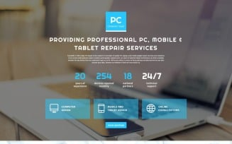 PC - Computer Repair Clean HTML Landing Page Template