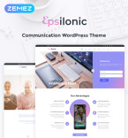 Communications WordPress Template 56025