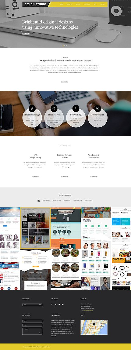 WordPress Theme/Template 56038 Main Page Screenshot