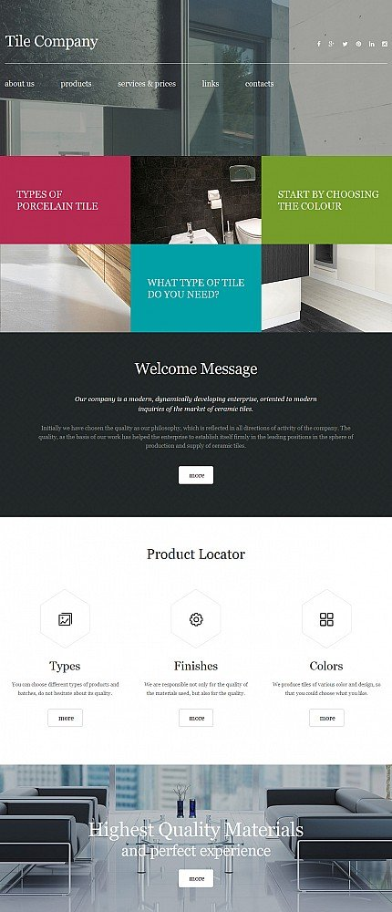 ADOBE Photoshop Template 56049 Home Page Screenshot