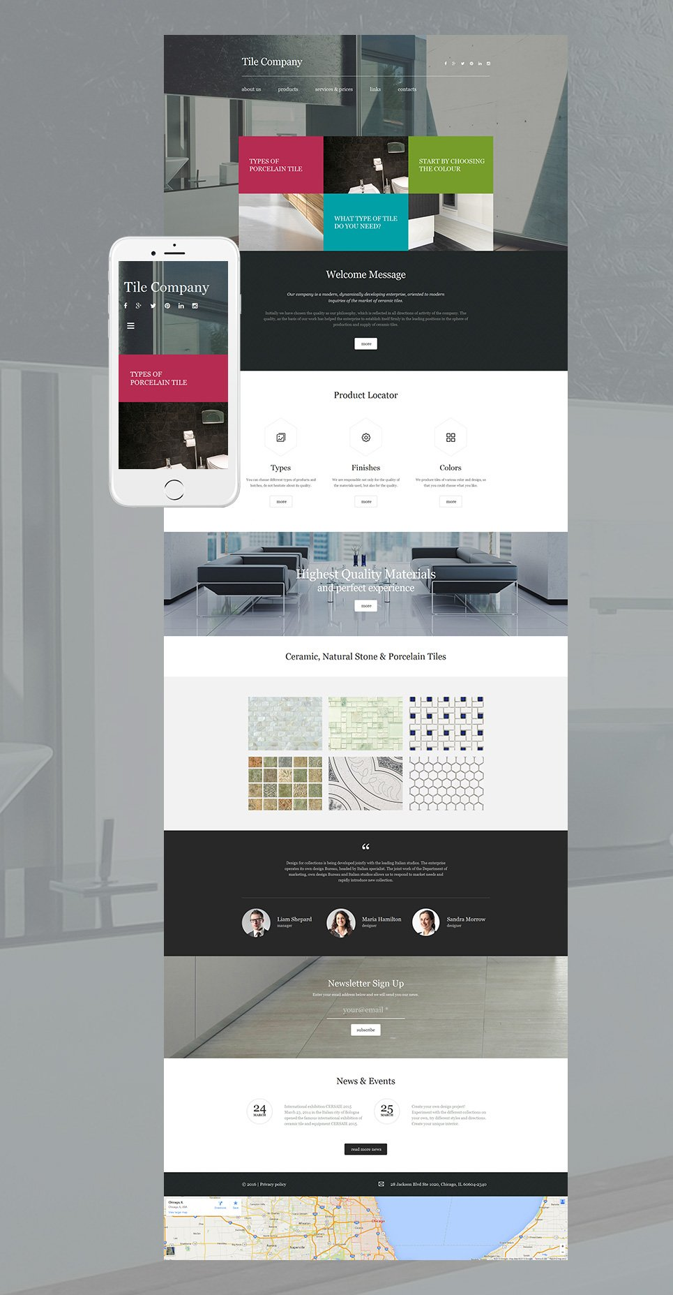 Animated site for designers