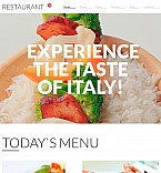 Cafe & Restaurant Moto CMS 3  Template 56055