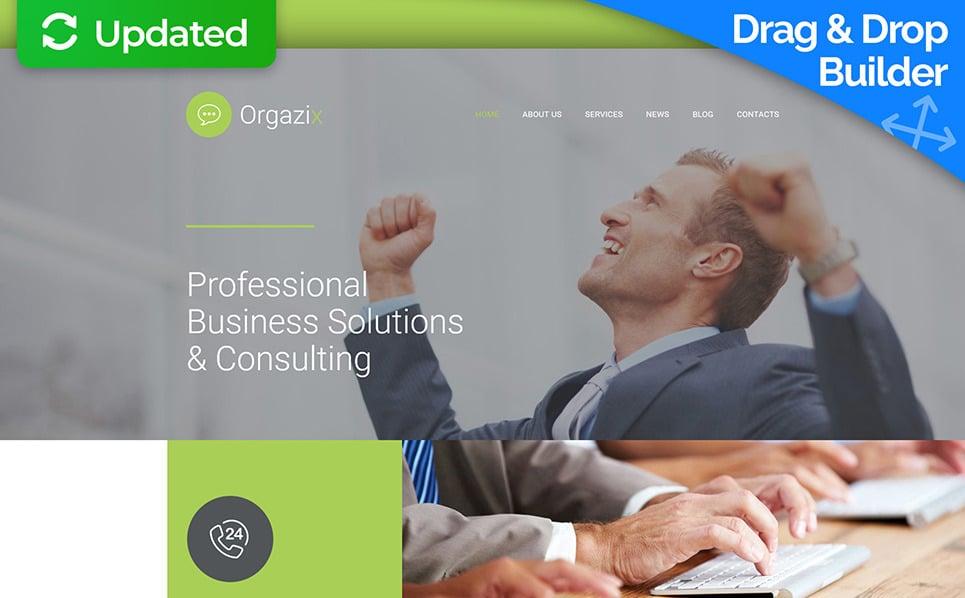 Templates Moto CMS 3 Flexível para Sites de Business & Services №56056 New Screenshots BIG