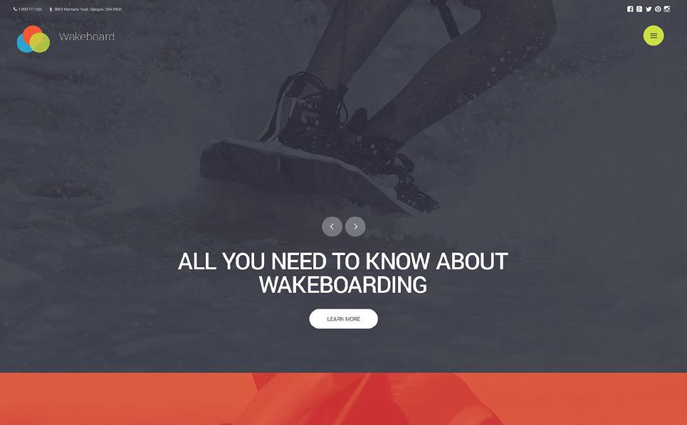 Reszponzív Wakeboard Weboldal sablon New Screenshots BIG