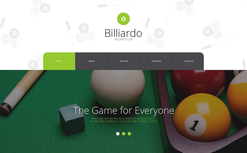 Template Web Flexível para Sites de Bilhar №56076 New Screenshots BIG