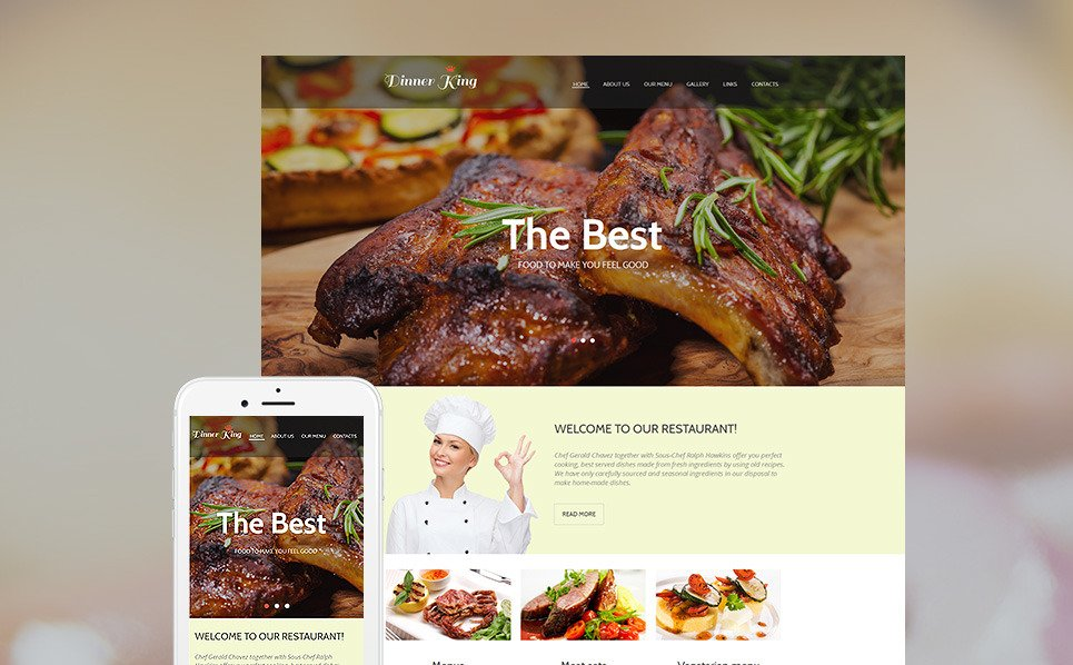Premium Kafe ve Restoran  Moto Cms Html Şablon New Screenshots BIG