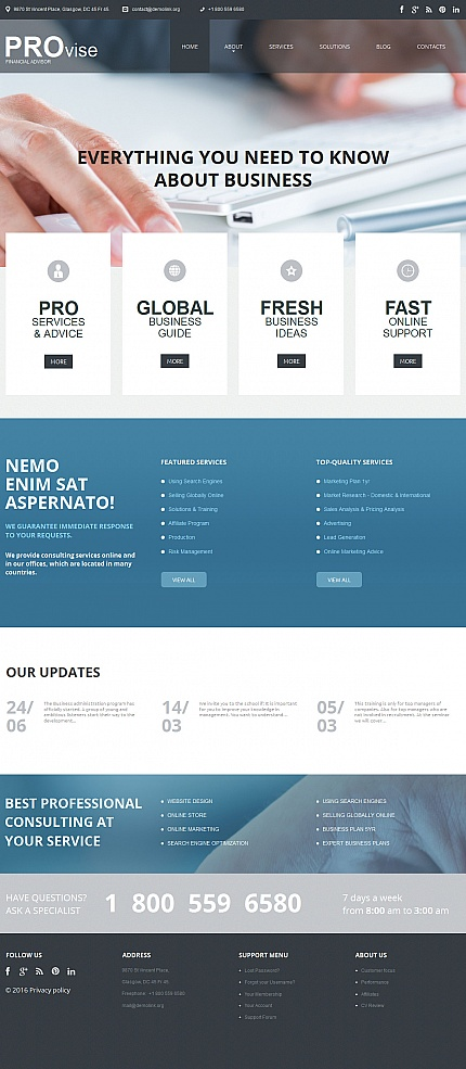ADOBE Photoshop Template 56086 Home Page Screenshot