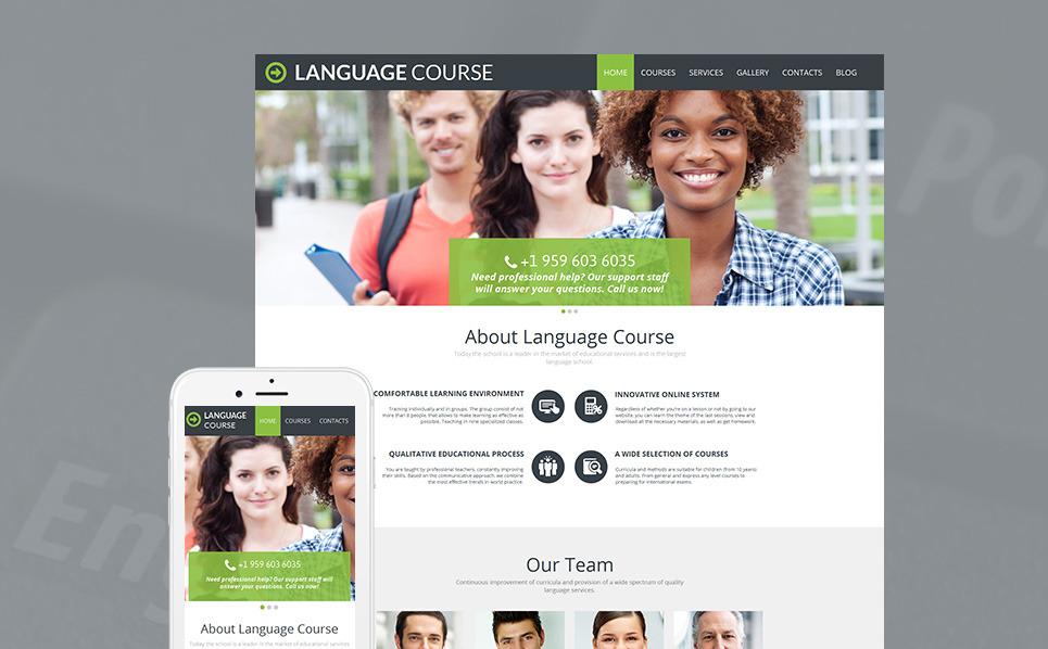 Moto CMS HTML Vorlage für Sprachschule  New Screenshots BIG