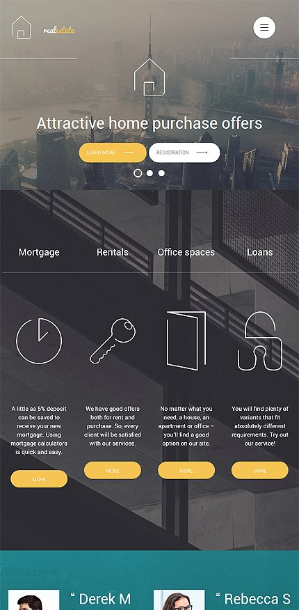 Template #56093 Real Estate Wordpress 3.x - Tablet Layout