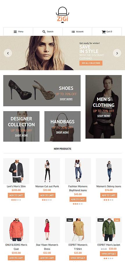 Magento Theme/Template 56098 Main Page Screenshot