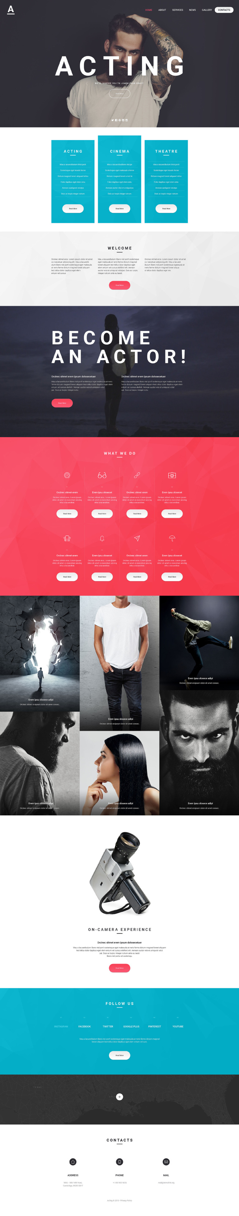 Acting Art Website Template New Screenshots BIG