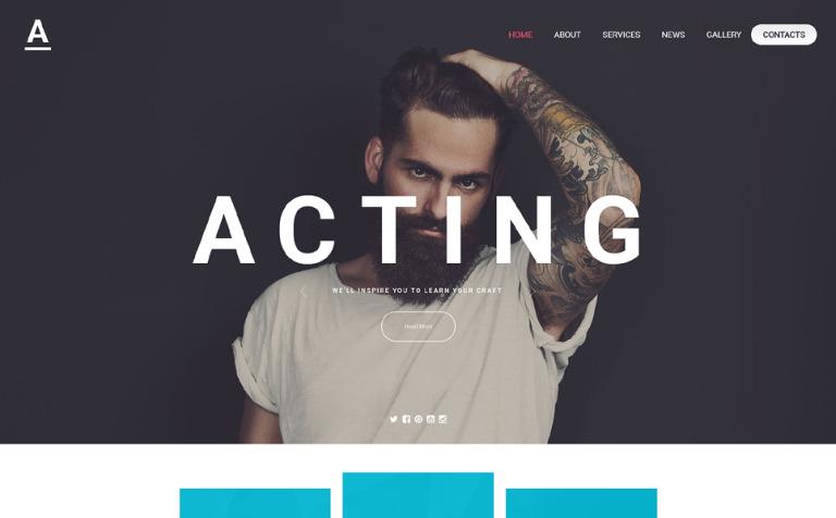 Acting Art Website Template