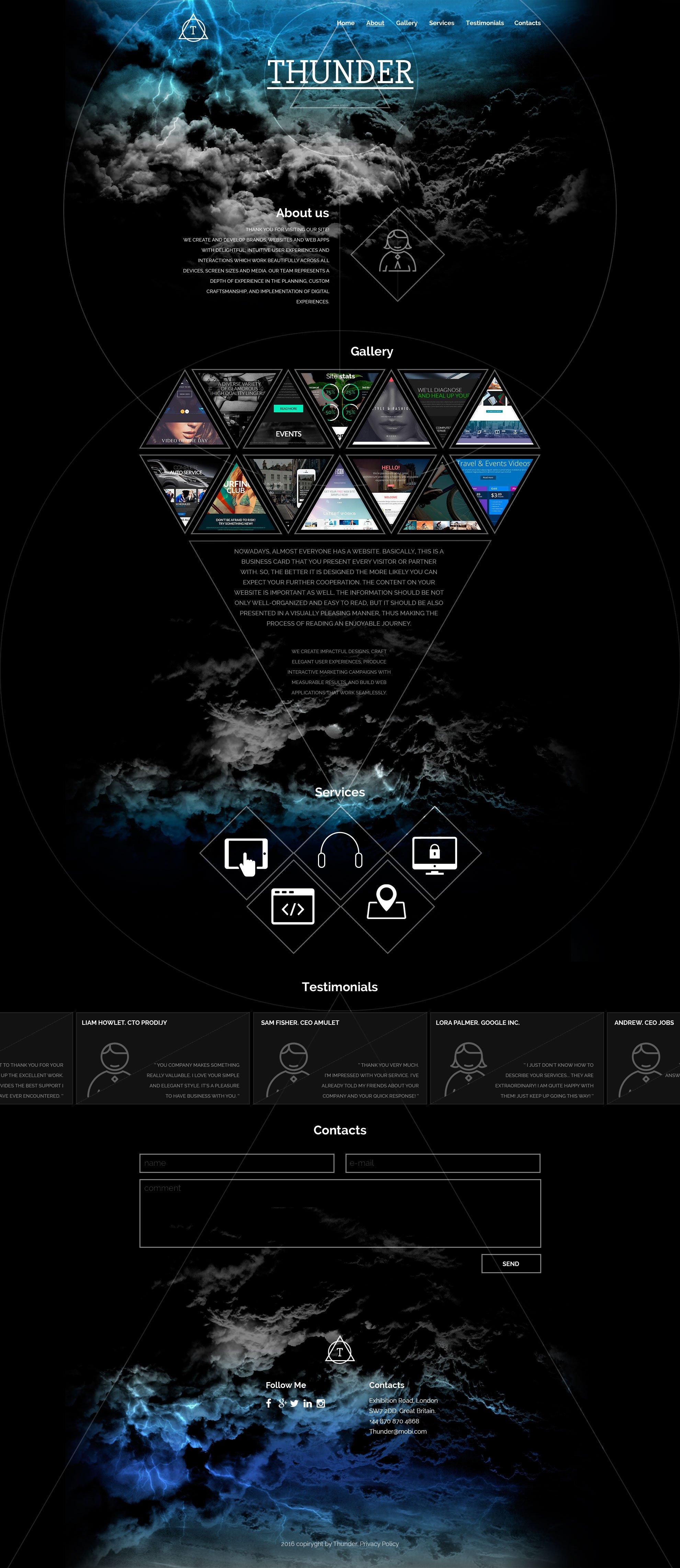 Адаптивный HTML шаблон №56023 на тему веб-дизайн