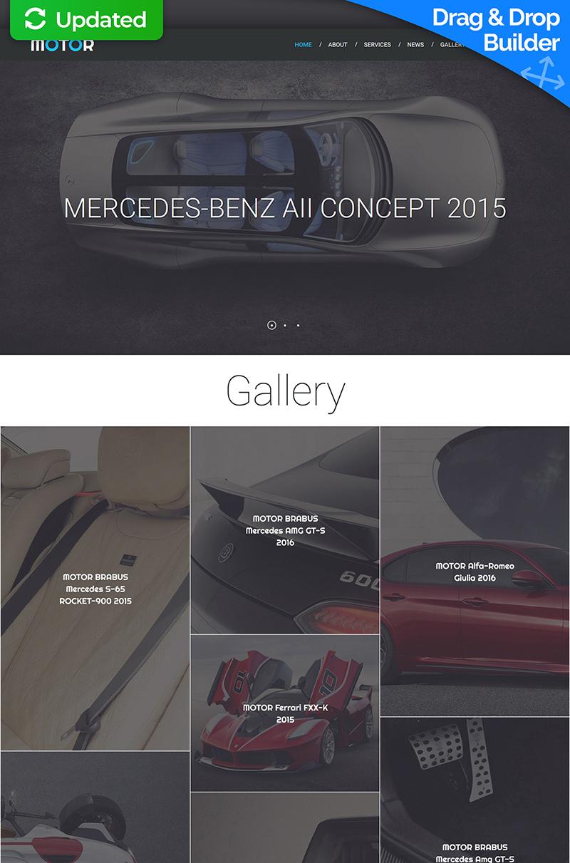 Адаптивный MotoCMS 3 шаблон №56060 на тему автомобиль - скриншот