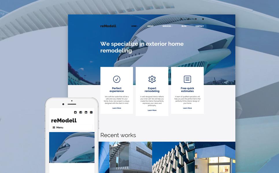 Адаптивный шаблон сайта на тему архитектура #56013
