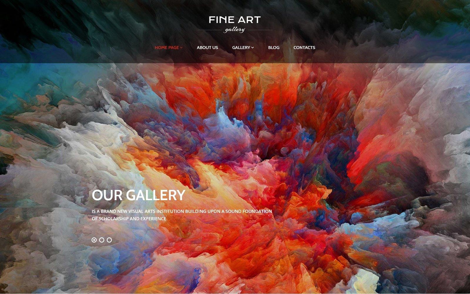 Адаптивный шаблон сайта на тему художественная галерея #56092